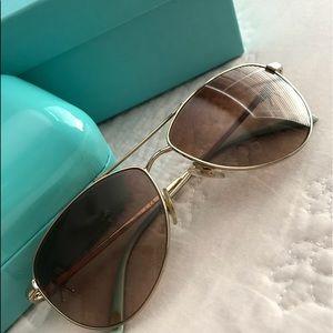 749bf97e04ec6 Accessories - Tiffany   Co. TF3044 Gold Aviator Sunglasses